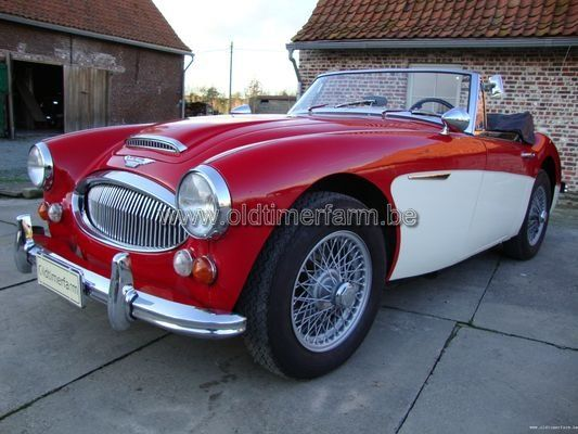 Austin Healey 3000 MK 3  Red/white (1967)