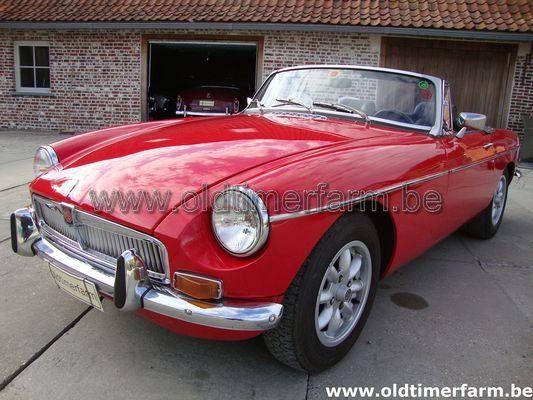 MG B Red LHD 1972 (1972)