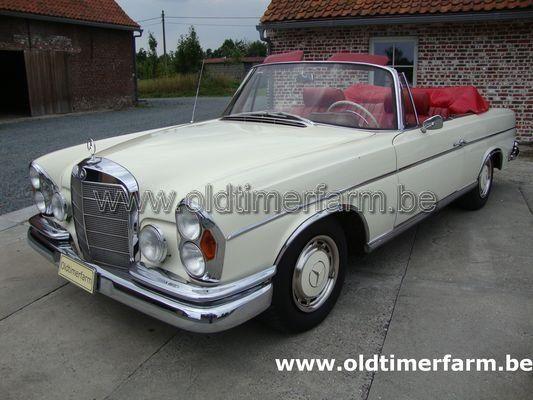 Mercedes Benz 250 Se Cabriolet White 1963 Vendue Ch 9810
