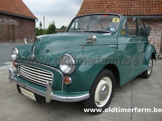 Morris  Minor 1000 Cabriolet green  (1964)