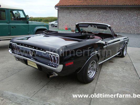 ford mustang cabriolet black v8 1968 sold ref 1163. Black Bedroom Furniture Sets. Home Design Ideas