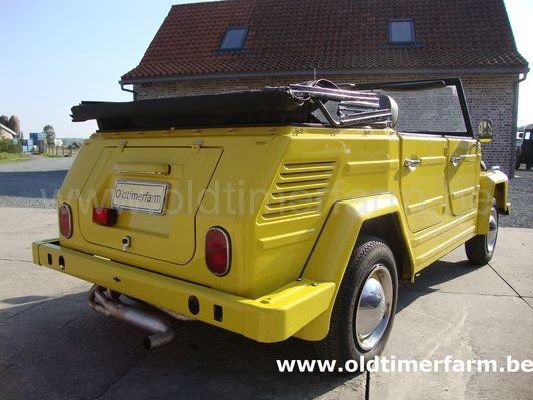 volkswagen 181 yellow 1971 vendue ref 1199. Black Bedroom Furniture Sets. Home Design Ideas