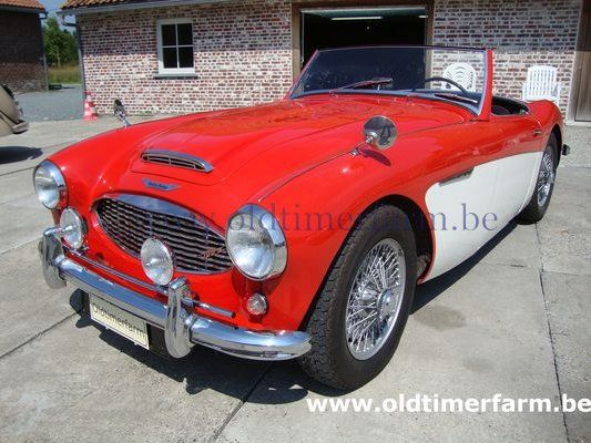Austin Healey 100/6 BN6 Red-White (1958)