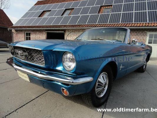 Ford Mustang Cabriolet 6cil  Blue (1966)