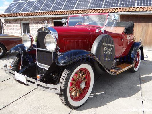 Whippet Car: Willys-Overland Whippet Model 96A Roadster (1929) Sold