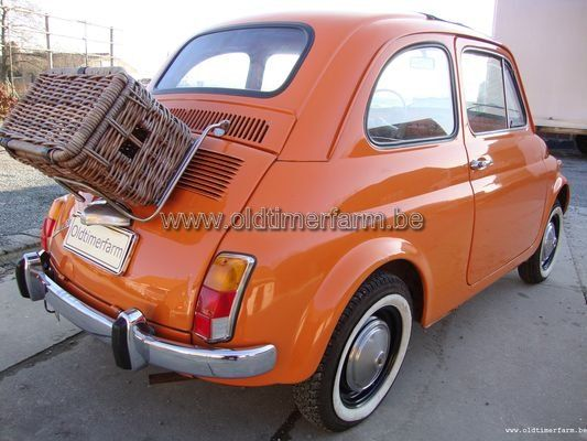 fiat 500 oranje 1967 vendue. Black Bedroom Furniture Sets. Home Design Ideas