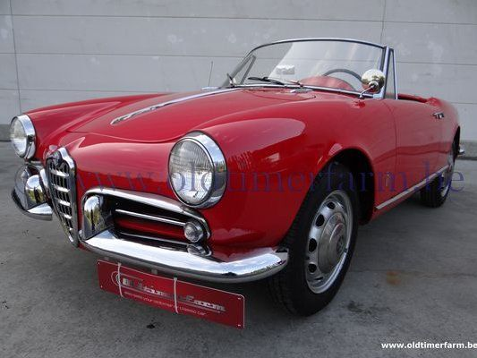 alfa romeo giulietta spider 1300 1958 verkocht ch 9278. Black Bedroom Furniture Sets. Home Design Ideas