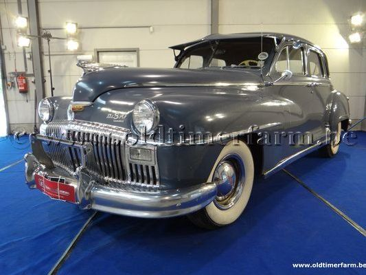 Desoto Deluxe Four Door Sedan Grey/Blue '48 (1948)