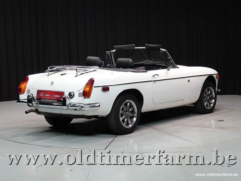 MG B Roadster White