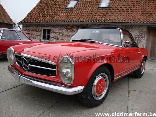 mercedes benz 230 sl pagode red 1965 vendue ref 741. Black Bedroom Furniture Sets. Home Design Ideas