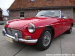MG B  red LHD 1966
